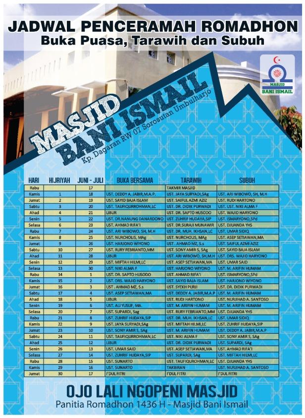 penceramah masjid  bani ismail 1436h_2015